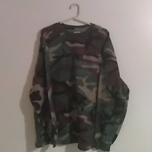 Men's camo sweater